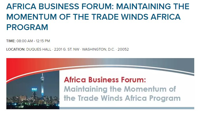 Africa Business Forum: Maintaining The Momentum Of The Trade Winds Africa Program | April 22