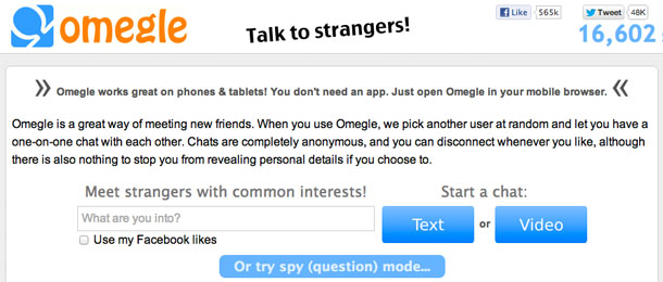 One on one chat with strangers