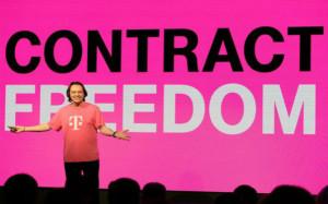 T-Mobile CEO John Legere at T-Mobile's Un-carrier 4.0 press conference at CES 2014  in Las Vegas. (Photo: Jeff Bottari, AP Images for T-Mobile)