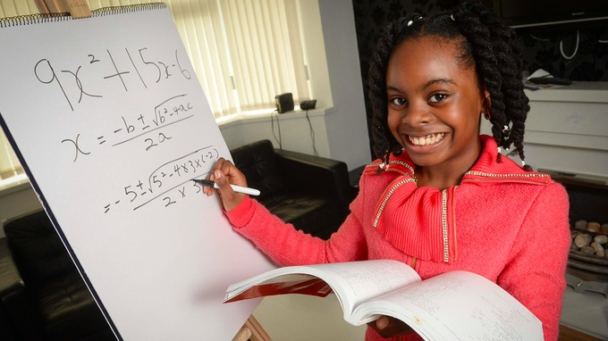 Possibly Britain's Smartest Girl! 10-Year-Old, Esther Okade Got Accepted At Open University To Undertake Math Degree