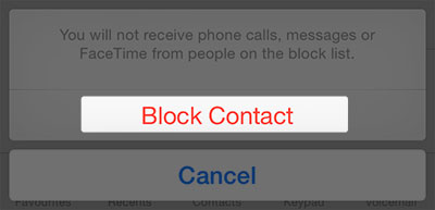 block someone on imessage