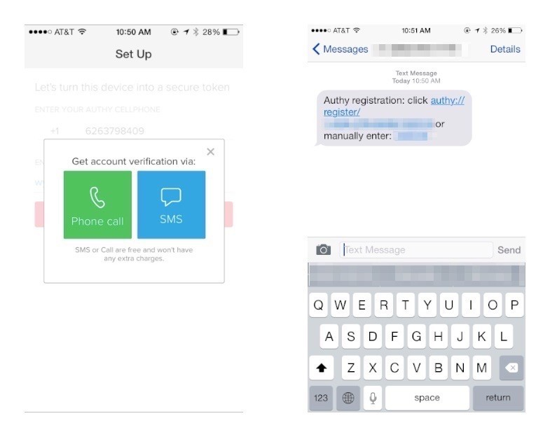 enable two factor authentication on iPhone and android 1