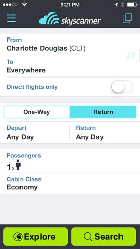 save money on air travel sky