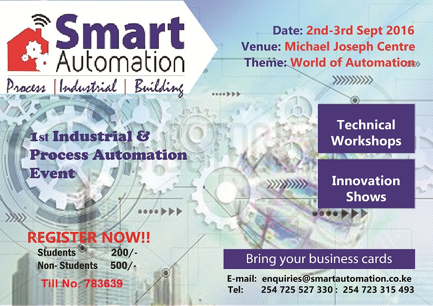 First Smart Automation Event Coming to Nairobi | Sept 2nd – 3rd 2016