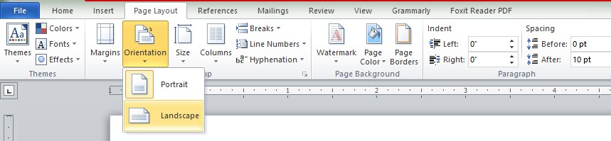 How to make Word pages both Landscape and Portrait within the same Document