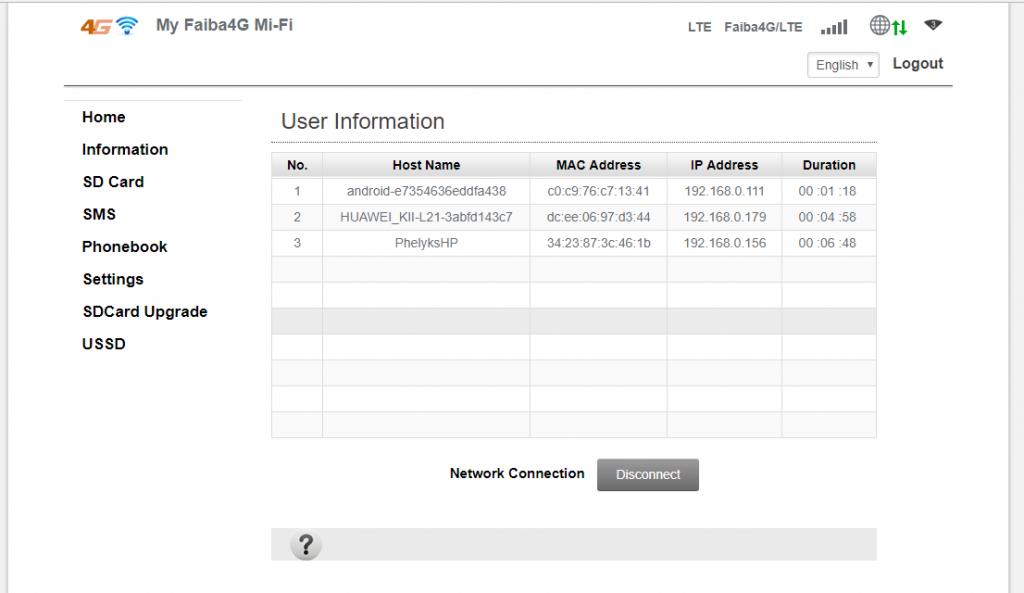 JTL Faiba 4G Mi-Fi SSID and Password