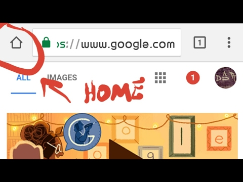 google chrome for android home button