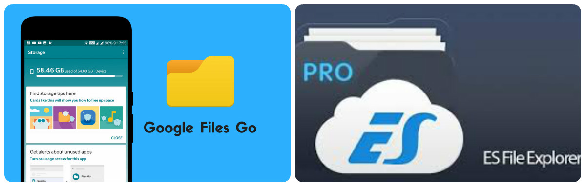 Google Files Go v/s  ES File Explorer, which is the better