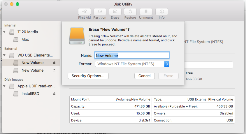 How to Format Hard Disk, USB Flash Drive, SSD for Mac OS X