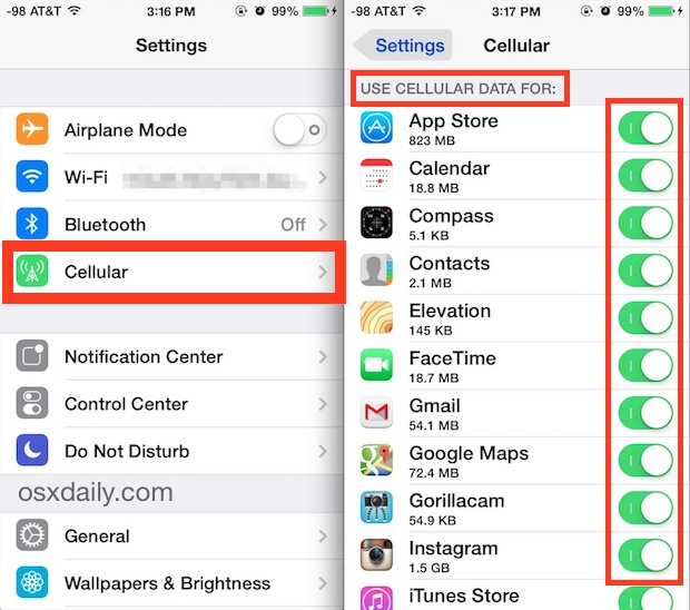 How to prevent your iPhone from consuming Mobile Data too Fast, too Much